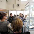 Минсалим ведет экскурсия по экспозиции выставки