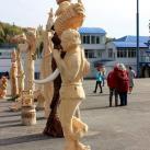 """Готовые скульптуры. На переднем плане - скульптура В.Коновалова """"Пастушок"""""""