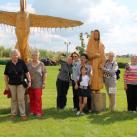 И опять - статуя Золотой Бабы - итоги Уватских фестивалей парковой скульптуры