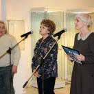 С.Круглова, О.Перепечина (СХМ) и Минсалим  открывают выставку