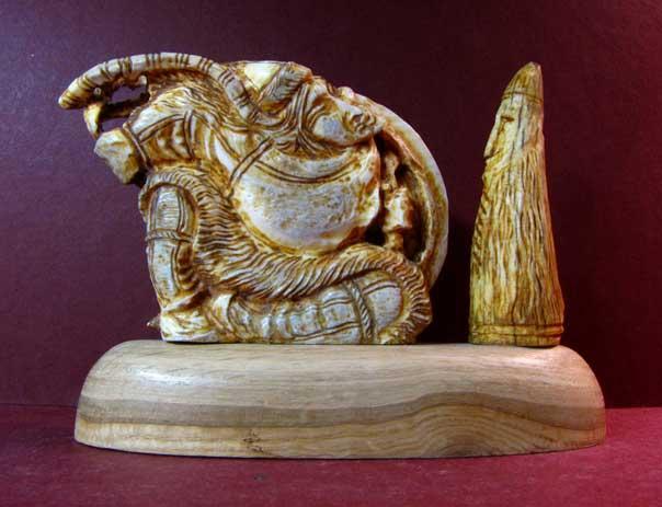 Скульптура «Камлание шамана», 110х160х55 мм