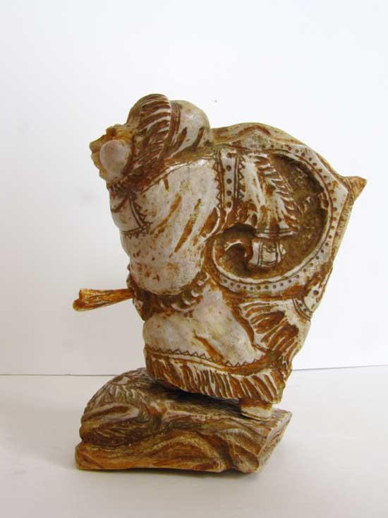 Скульптура «Шаманка», 150х90х70 мм, рог лося
