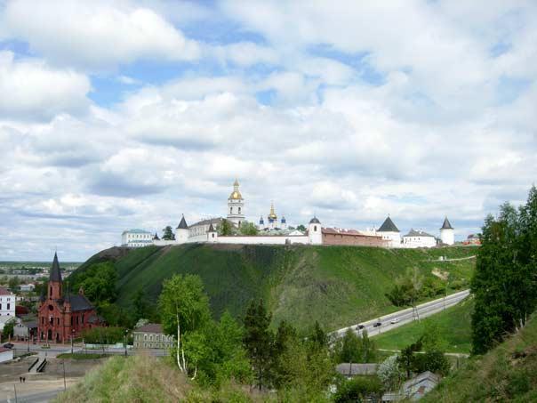 Вид на Тобольский Кремль с Панина бугра
