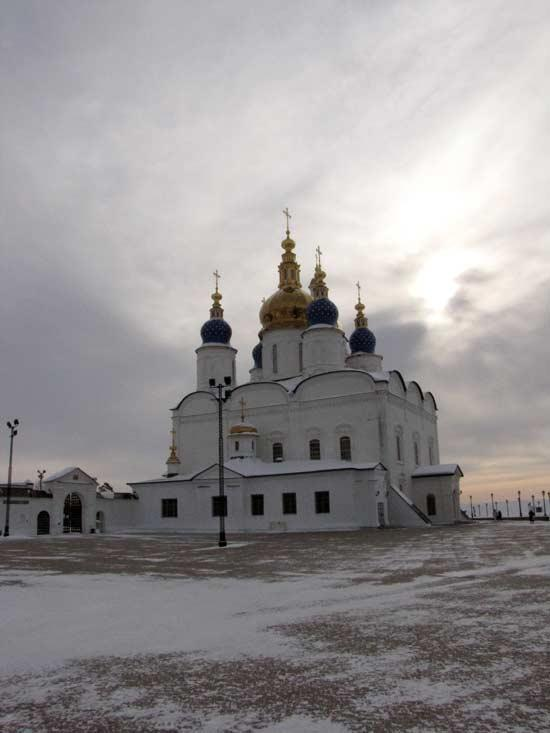 Ноябрьский день. Вид на Софийско-Успенский Собор Тобольского Кремля