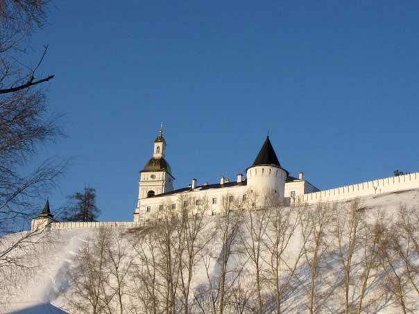 Тобольский Кремль. Вид из-под горы
