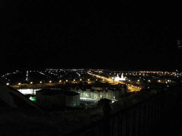 Ночной вид на Нижний город, Тобольск