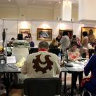 Конкурс мастеров-косторезов во время выставки
