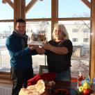Торт в виде Дома на Юбилей и Новоселье