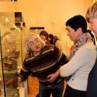 Посетители выставки на открытии