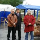 С.А.Лугинин - директор Дома Ремесел, Е.Е.Колтунов - директор департамента культу